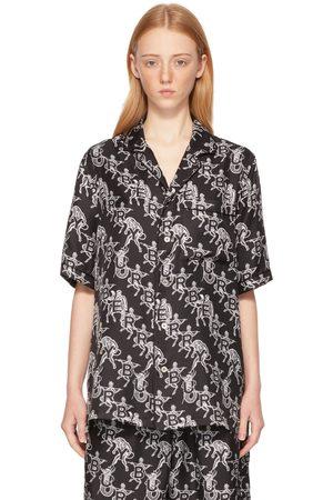 Burberry SSENSE Exclusive Mythical Alphabet Silk Logo Short Sleeve Shirt