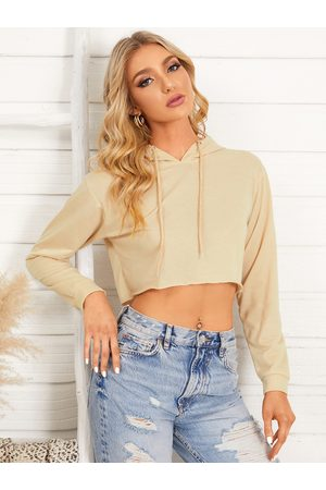 YOINS Casual Cropped Hoodie With Long Sleeves