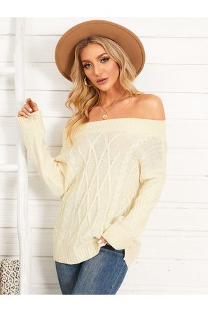 YOINS Off The Shoulder Long Sleeves Oversize Sweater