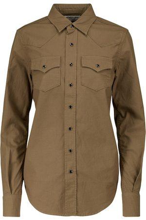 Saint Laurent Cotton ripstop shirt