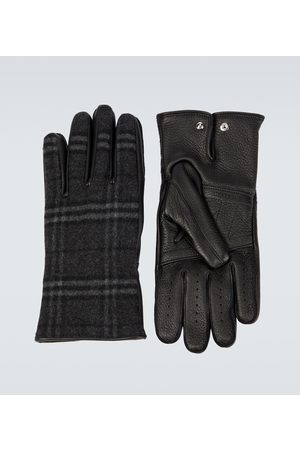 Burberry Men Gloves - Cashmere and wool blend gloves