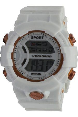 Spiky Unisex Kids White Textured Dial & Straps Digital Multi Function Watch