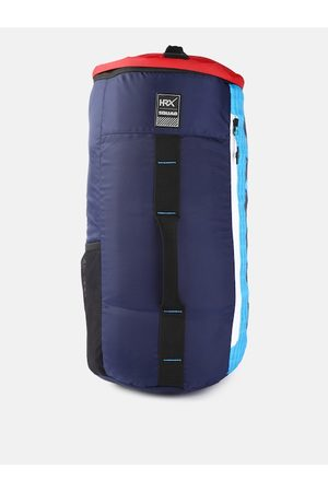 HRX by Hrithik Roshan Kids Navy Blue Pipe Colourblocked Duffel Bag cum Backpack