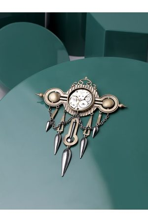 COSA NOSTRAA Men Vintage handcrafted time machine Brooch