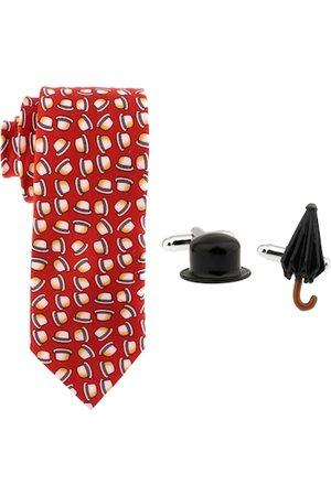 The Tie Hub Men Pure Silk & Brass Accessory Gift Set