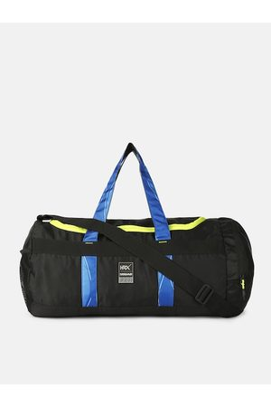 HRX Kids Black Solid Camo Strap Duffel Bag