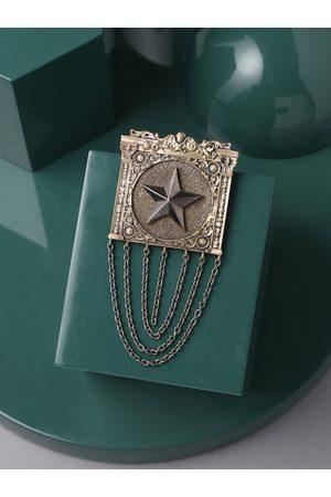COSA NOSTRAA Men Gold-Toned & Metallic-Toned Merit Brooch
