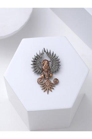 COSA NOSTRAA Men Metallic-Toned & Copper-Toned Rising Phoenix Brooch