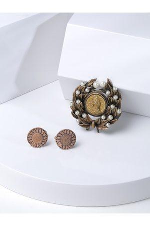 COSA NOSTRAA Men Metallic-Toned & Yellow Accessory Gift Set