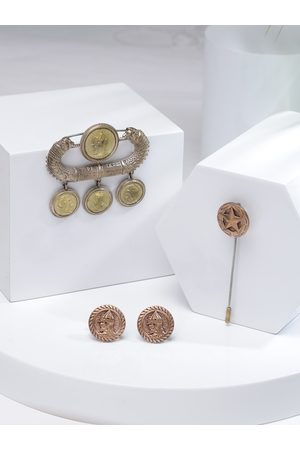 COSA NOSTRAA Men Metallic-Toned Accessory Gift Set