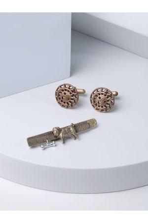 COSA NOSTRAA Men Copper-Toned Accessory Gift Set