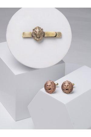 COSA NOSTRAA Men Metallic & Gold-Toned Accessory Gift Set