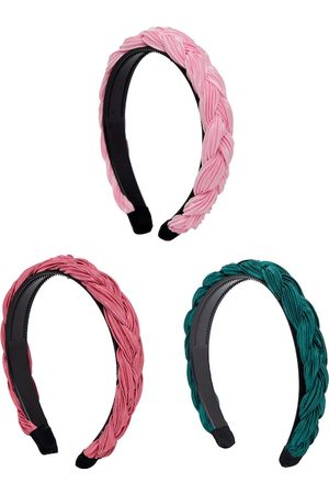YouBella Women Set of 3 Pink & Peach-Coloured Hairband