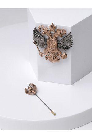 COSA NOSTRAA Men Metallic-Toned & Black Accessory Gift Set