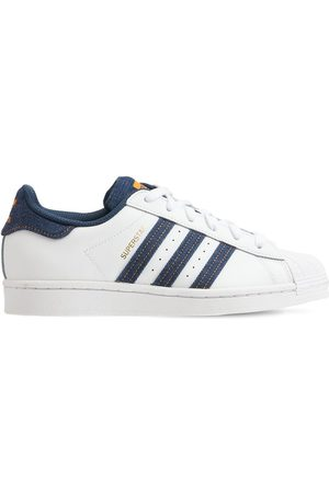 ADIDAS ORIGINALS Superstar Leather Lace-up Sneakers