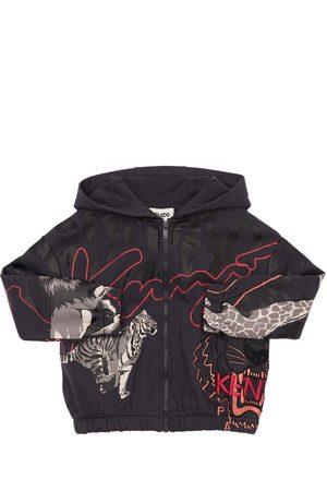 KENZO KIDS Zip-up Cotton Blend Sweatshirt Hoodie