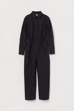 H & M Broderie-detail jumpsuit