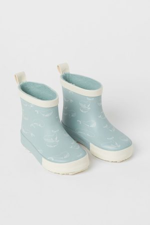 H & M Patterned wellingtons - Turquoise