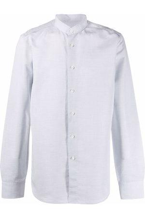 DELL'OGLIO Men Long sleeves - Long-sleeve collarless shirt