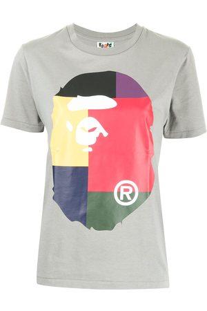 A Bathing Ape Colour block-print cotton T-shirt
