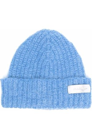 Salvatore Ferragamo Logo-patch knitted hat