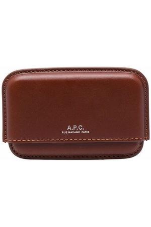 A.P.C. Embossed logo stamp cardholder