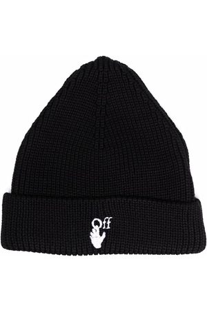 OFF-WHITE Men Beanies - Hands Off ribbed-knit beanie