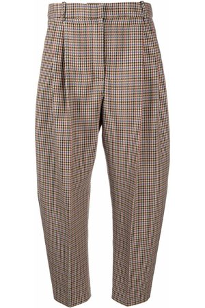 Stella McCartney Houndstooth cropped suit trousers