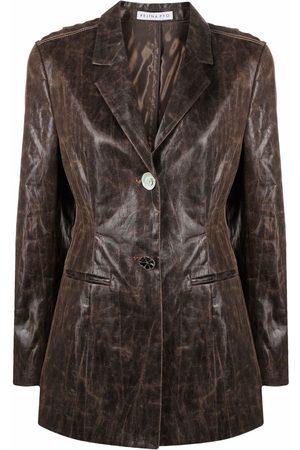 Rejina Pyo Leather-effect blazer jacket