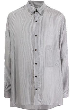 Yohji Yamamoto Stripe-print oversize long-sleeve shirt