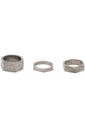 OFF-WHITE Men Rings - Textured hexnut rings