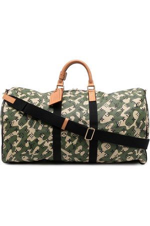Louis Vuitton 2008 pre-owned camouflage monogram Keepall Bandouliere 55 travel bag