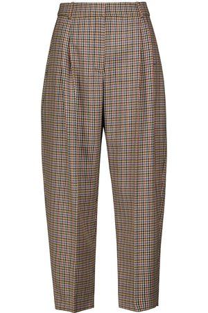 Stella McCartney Cavalry houndstooth wool pants