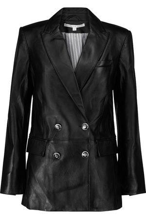 VERONICA BEARD Dickey leather blazer