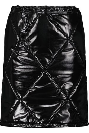 Dolce & Gabbana Quilted faux leather high-rise miniskirt
