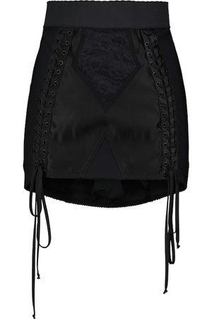 Dolce & Gabbana Lace-detail high-rise miniskirt