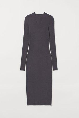 H & M Rib-knit dress - Grey