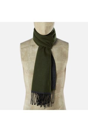 Universal Works Double Sided Scarf Olive/Charcoal