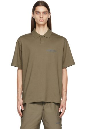 Essentials Men Polo Shirts - Taupe Jersey Polo