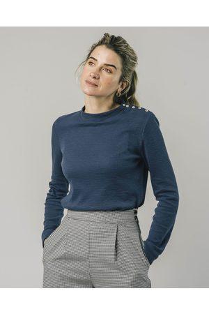 Brava Fabrics Perkins Long Sleeve Tshirt Indigo