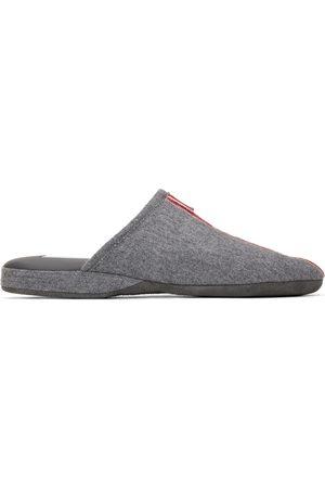 Thom Browne Grey Waterproof Wool Engineered Stripe Loafers