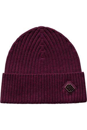 Eton Burgundy Beanie Hat With Logo Detail A0003268476