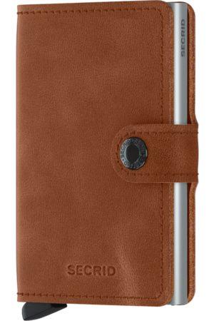 Secrid Vintage Cognac & Silver Leather Mini Wallet