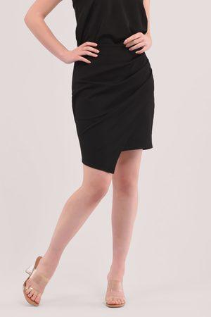 Closet Pleated Pencil Wrap Mini Skirt