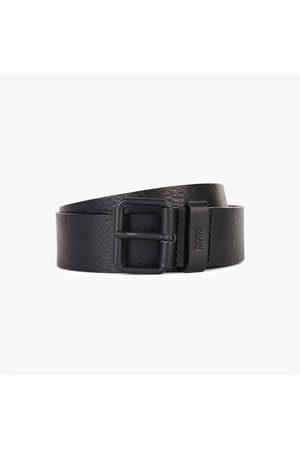 HUGO BOSS SERGE-V Black Leather Belt With Black Roller Buckle 50419405 001