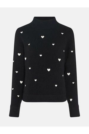 Fabienne Chapot Oliviana Pullover Black with White Hearts
