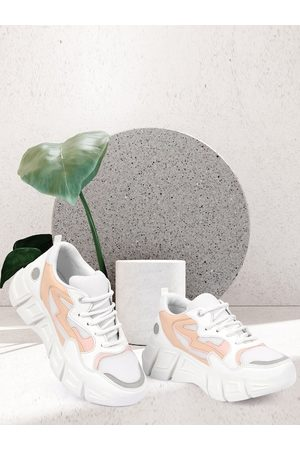ZAPATOZ Women White Walking Air Max Non-Marking Shoes