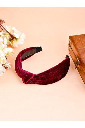 Silvermerc Designs Women Maroon Hairband