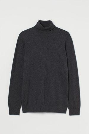 H & M Fine-knit polo-neck jumper - Grey