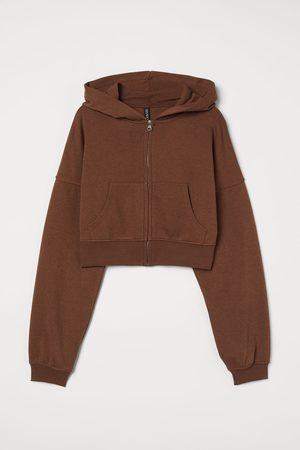 H & M Cropped zip-through hoodie